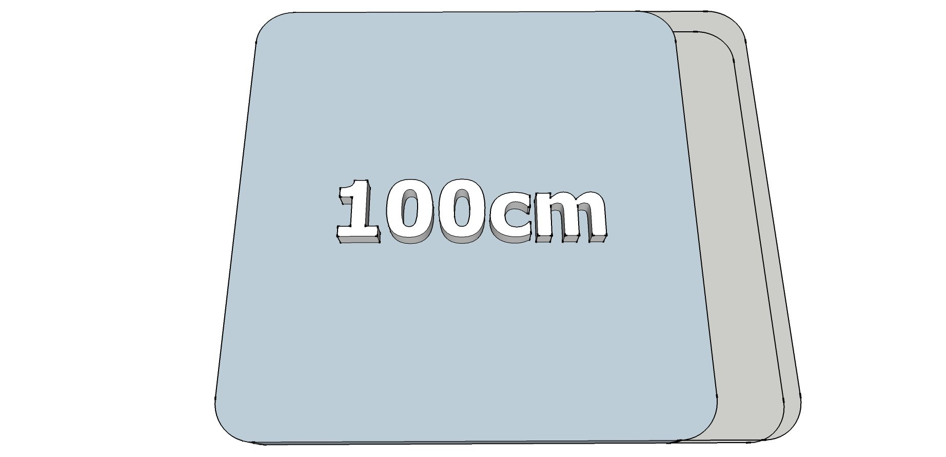 Afwijkende breedte (100cm)