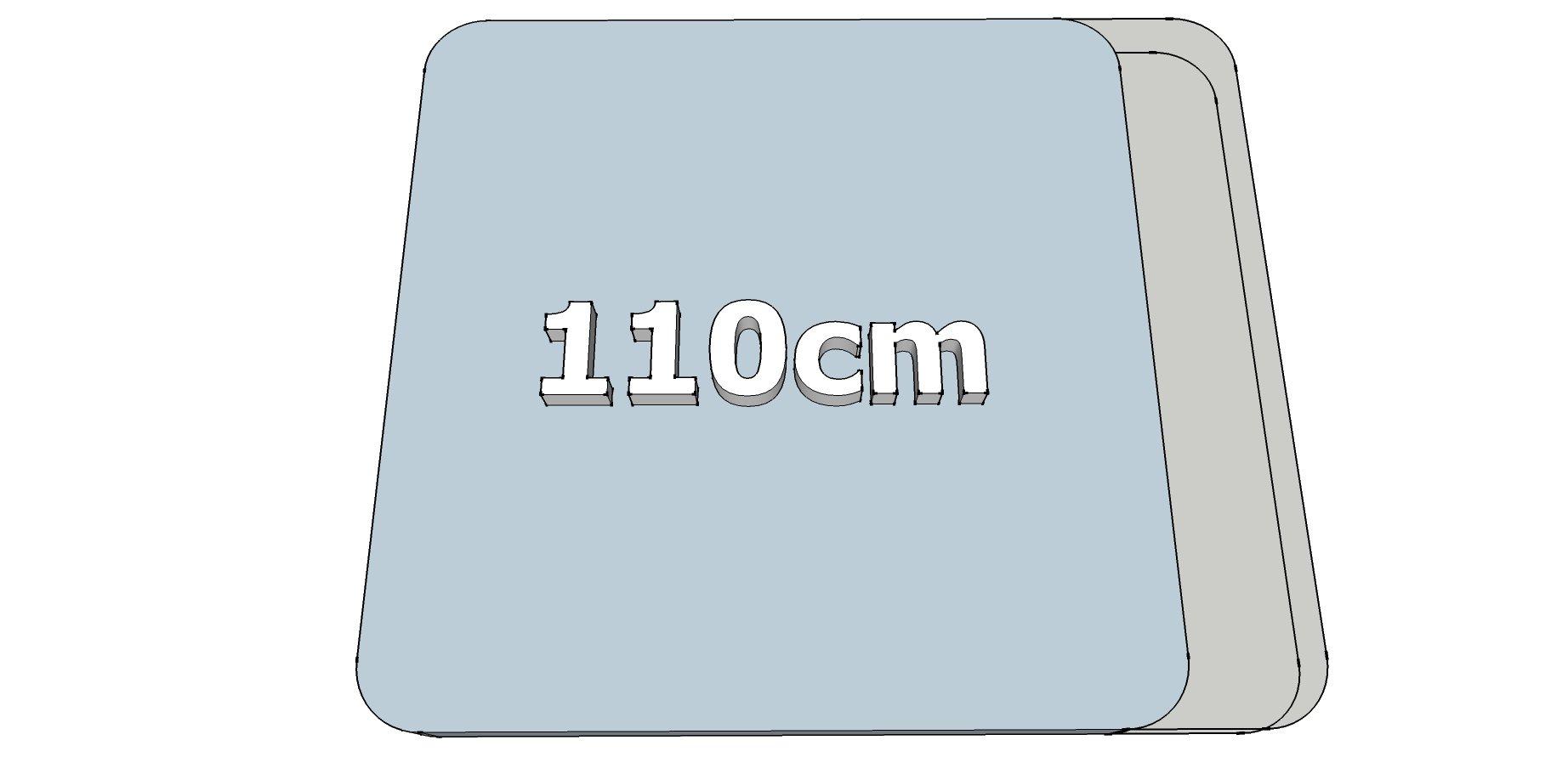 Afwijkende breedte (110cm)