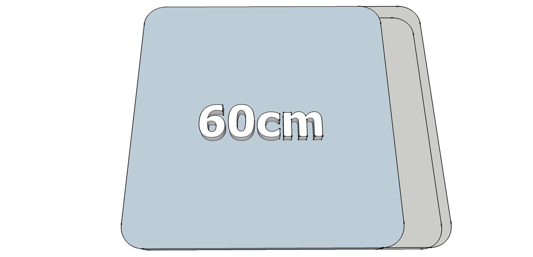 Afwijkende breedte 60cm