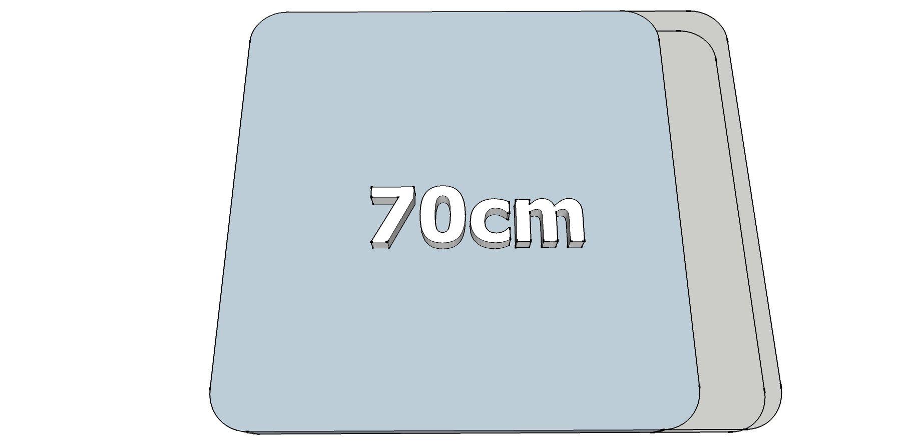 Afwijkende breedte (70cm)