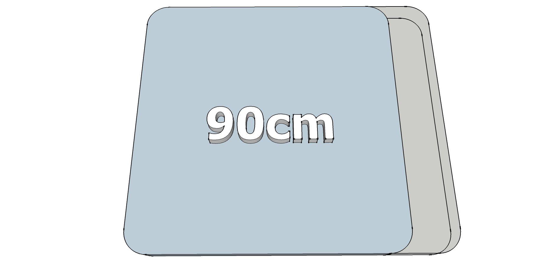 Afwijkende breedte (90cm)