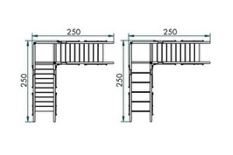 Platform 2 staircases - corner